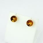 Fehér arany borostyán fülbevaló (Au1405GT)