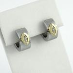Fehér arany gyémánt fülbevaló (Au22GT)
