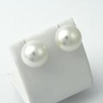Fehér arany gyöngy fülbevaló (Au221GT)