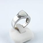 Fehér arany gyűrű opállal
