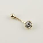 Arany köldök  piercing (Au1820GT)