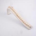 Fehér arany gyöngy karkötő (Au2401GT)