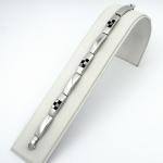 Stahl ezüst karkötő
