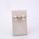 Fehér arany gyémánt gyöngyös fülbevaló (Au2387GT)
