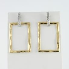 Donna Oro gyémánt fülbevaló (Au900GT)