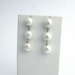 Golay fehér arany gyémánt fülbevaló gyönggyel (Au2320GT)