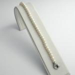 Golay fehér arany gyémánt gyöngy karkötő (Au2348GT)