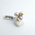 Golay arany gyémánt gyűrű gyönggyel (Au498GT)