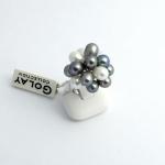 Golay fehér arany gyűrű gyönggyel(Au2312GT)