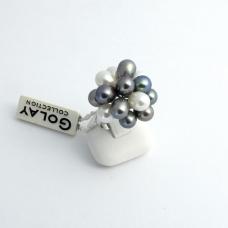 Golay fehér arany gyűrű gyönggyel (Au462GT)