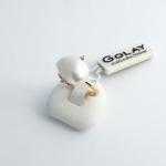 Golay arany gyémánt gyűrű gyönggyel (Au497GT)