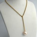 Golay arany gyöngy nyakék gyönggyel (Au2321GT)