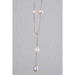 Golay fehér arany gyémánt nyakék gyönggyel (Au474GT)