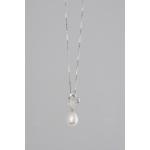 Golay fehér arany gyémánt nyakék gyönggyel (Au482GT)