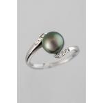 Golay fehér arany gyémánt gyűrű tahiti gyönggyel (Au489GT)