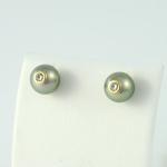 Arany gyémánt gyöngyös fülbevaló (Au2GT)