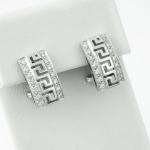 Fehér arany gyémánt fülbevaló (Au329GT)