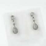 Fehér arany gyémánt fülbevaló (Au683GT)
