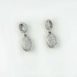 Fehér arany gyémánt fülbevaló (Au684GT)