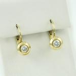 Arany gyémánt fülbevaló (Au814GT)