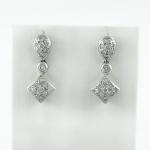 Fehér arany gyémánt fülbevaló (Au129GT)