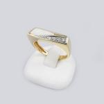 Arany gyémánt gyűrű opállal (Au105GT)