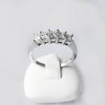 Fehér arany gyémánt gyűrű (Au428GT)