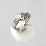 Fehér arany gyémánt gyűrű (Au435GT)