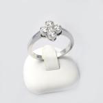 Fehér arany gyémánt gyűrű (Au436GT)