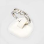 Fehér arany gyémánt gyűrű (Au747GT)