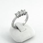 Fehér arany gyémánt gyűrű (Au795GT)