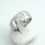 Fehér arany gyémánt gyűrű (Au864GT)