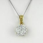 Arany gyémánt medál (Au134GT)