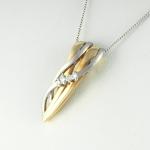 Arany gyémánt medál (Au1814GT)