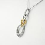 Fehér arany gyémánt medál (Au264GT)
