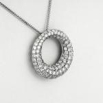Fehér arany gyémánt medál