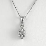 Fehér arany gyémánt medál (Au780GT)