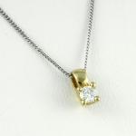 Arany gyémánt medál (Au808GT)