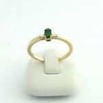 Arany gyémánt gyűrű smaragddal (Au109GT)