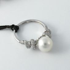 Donna Oro gyémánt gyűrű gyönggyel (Au891GT)