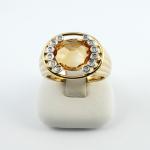 Nina Ricci gyűrű gyémánttal és citrinnel (Au457GT)
