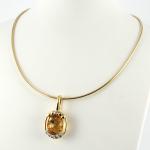 Nina Ricci nyakék gyémánttal és citrinnel